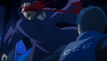 Amon strikes one of the Bin Brothers during the 11th Ward Battle.png