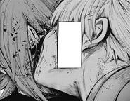 Kaneki eats Hazuki's face