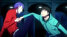 Shuu breaking Kaneki's arm