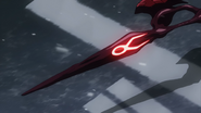Taruhi's blade that is about to become whip-like