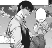 Amon attempts to kiss Akira