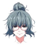 Anime design of Takatsuki's face