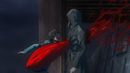 Kaneki attacking Yomo
