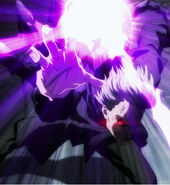 Yomo Producing An Lightning-like bolts With His Kagune