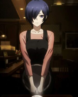 Touka's appearance in the re anime