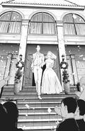 Takeomi and Yoriko as newlyweds