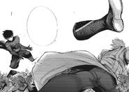 Arima slashes Sasaki's legs