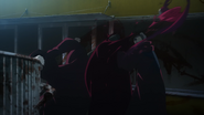 Renji splitting Noro with a kick