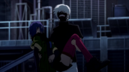 Kaneki saves Touka anime