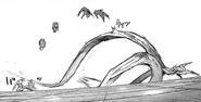 Amon's kagune — large tentacles