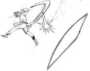 Mutsuki's kagune – throwing blade