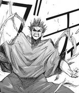 Amon breaks Mutsuki's bikaku-tentacles