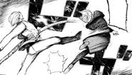 Naki kicks Akira