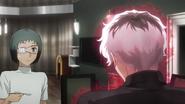 Mutsuki and Haise at the table