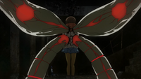 Hinami's Dual Kagune from her back