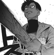 Urie stopped Mutsuki's attack