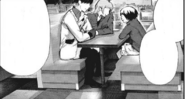 Chie talks to Urie and Shirazu