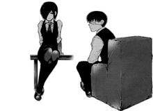Touka e Kaneki capitolo 49