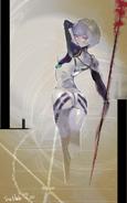 Ishidas Illustration für Rei Ayanamis Geburtstag aus Evangelion