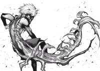 Kaneki's incomplete Kakuja Kagune