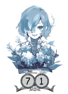 Touka Kirishima's birthday illustration in the 2016 calendar on July 1st
