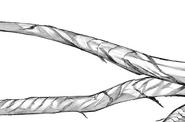 Mutsuki's kagune – evolved tails closer