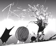 Touka's kagune - wing and shards