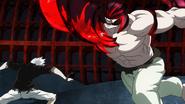Kaneki fighting with Yamori