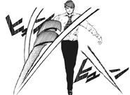 Shuu's kagune - spiral blade (frontal view)