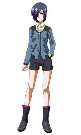 Touka anime design front view