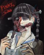 Ishida's illustration of gory Ayane Fujisaki