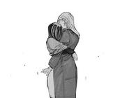 Hinami hugs Akira