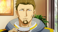Banjou drinking coffee at Anteiku