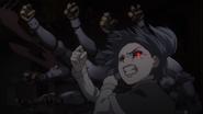 Saiko's kagune forms fists anime