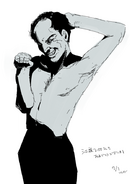 Ishidas Illustration für Egashira 2 50s Geburtstag