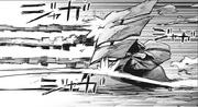 Amon forming Doujima into a shield