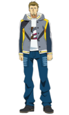 Banjou anime design front view