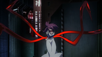 Rize showing her Kagune