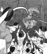 Kurona fighting against Kanou's Quinx