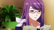 Rize reading a novel