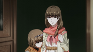 Ryouko with Hinami entering Anteiku