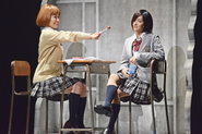 Yoriko with Touka at school