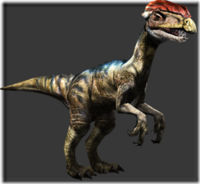 Dilophosaurus thumb