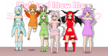 Mythical Mew Mew Group Photo All Fixed