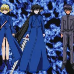 (From left to right) The Blue Knight, Deep Blue, and Masaya Aoyama.