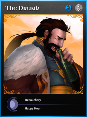 Portraitcard bluedragon drunk