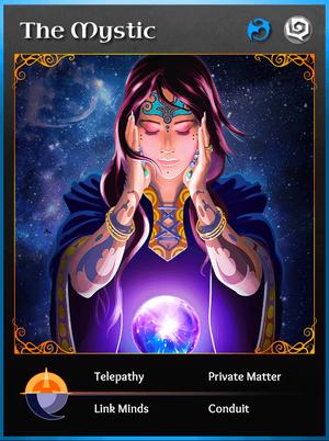 Portraitcard bluedragon mystic