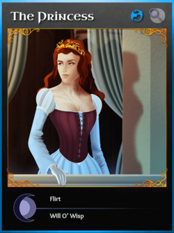 Portraitcard bluedragon princess