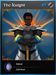 Portraitcard bluedragon knight