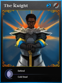 Portraitcard bluedragon knight